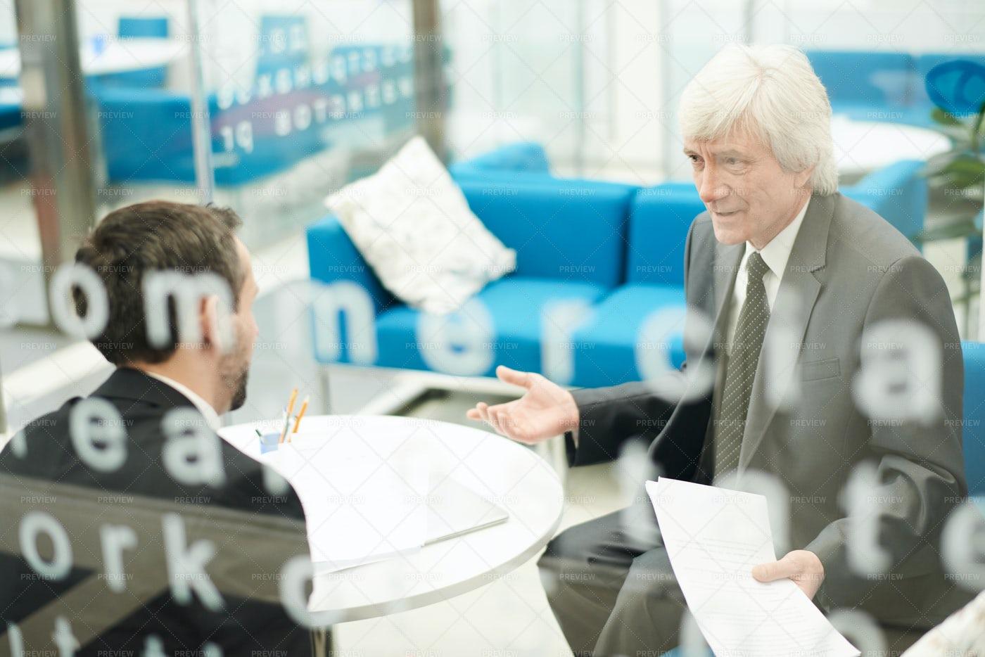 Senior Businessman At Work: Stock Photos
