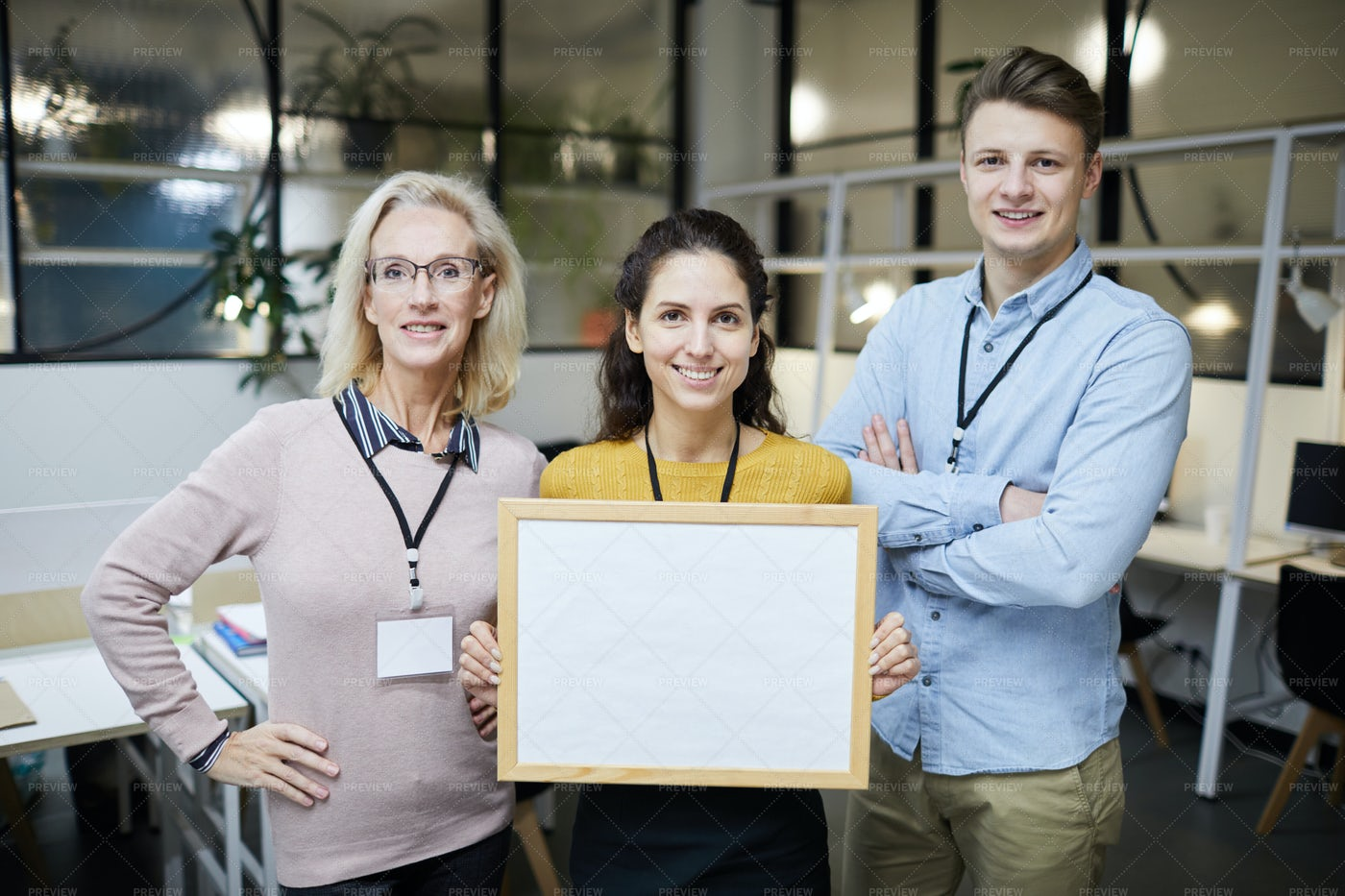 Positive Colleagues Presenting...: Stock Photos