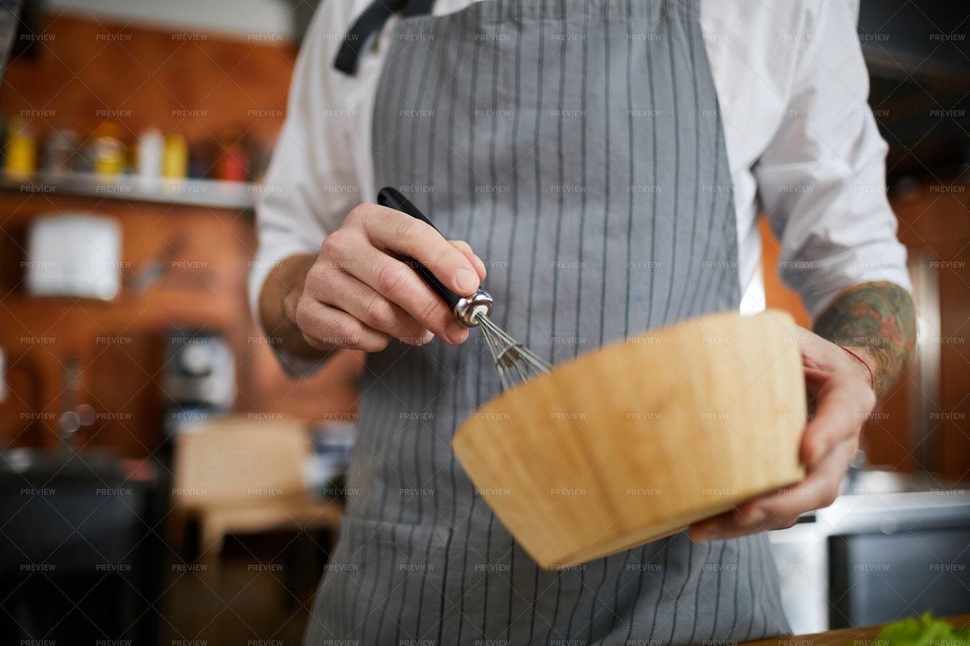 Chef Mixing Eggs: Stock Photos