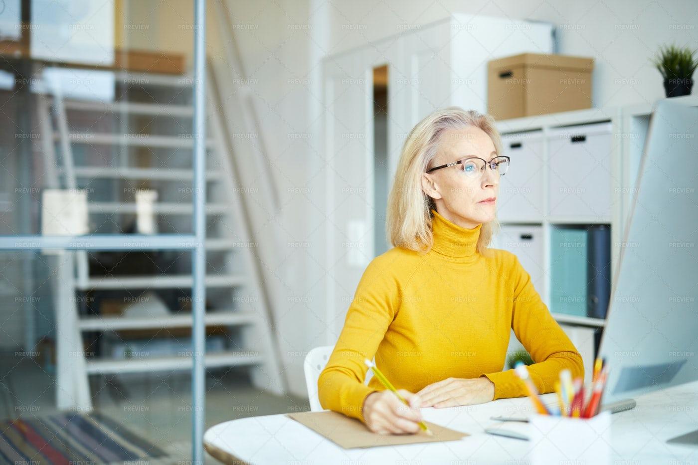 Mature Businesswoman At Work: Stock Photos