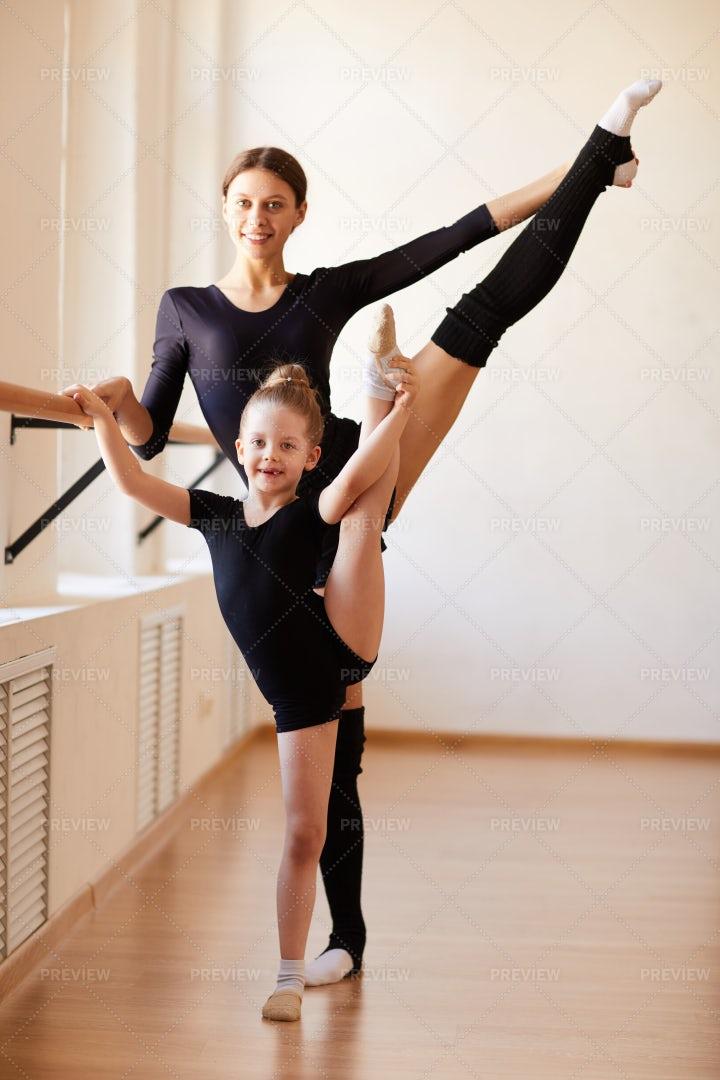 Ballerina Family: Stock Photos