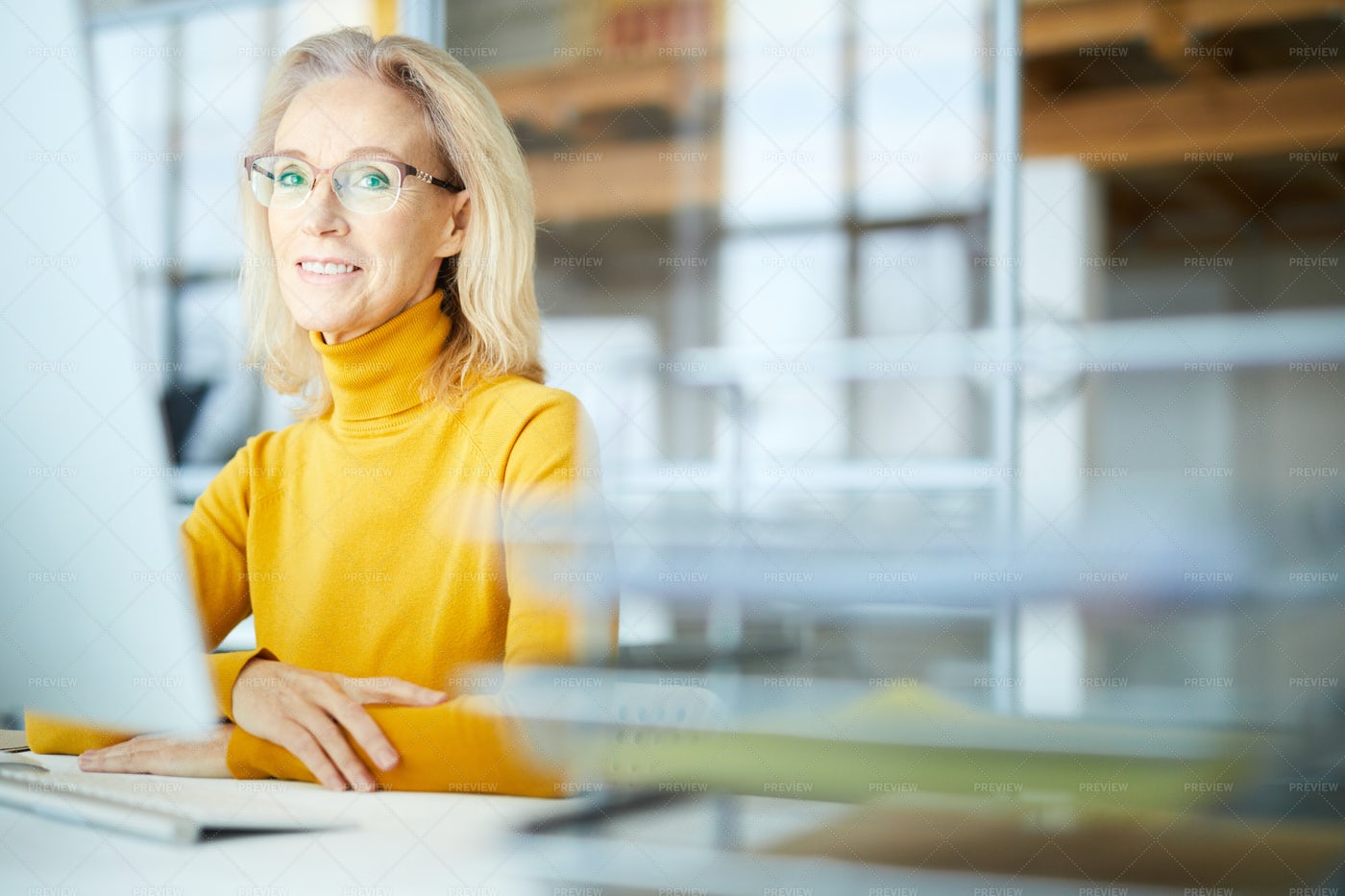 Mature Businesswoman In Office: Stock Photos