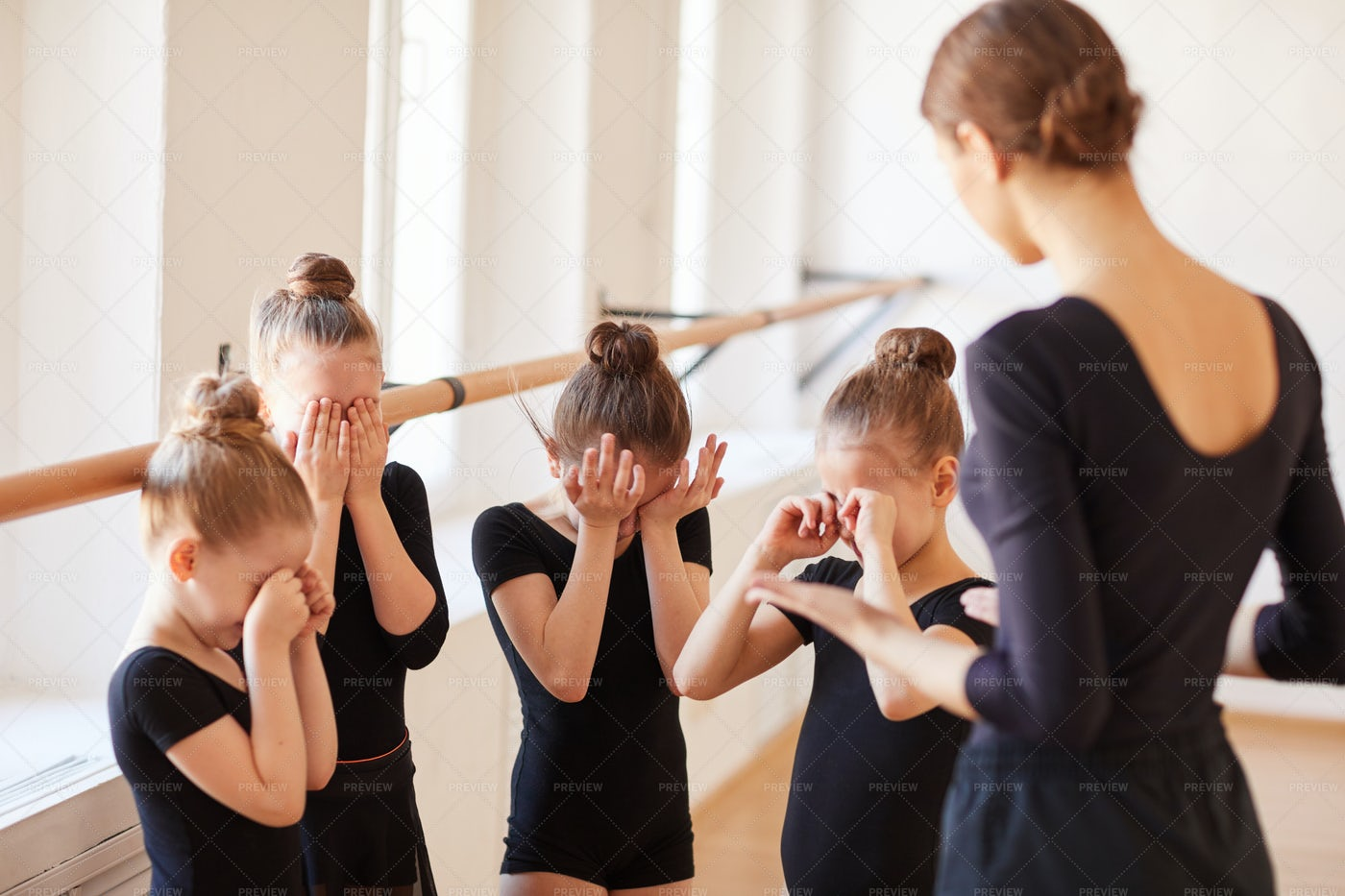 Pep Talk In Ballet Class: Stock Photos