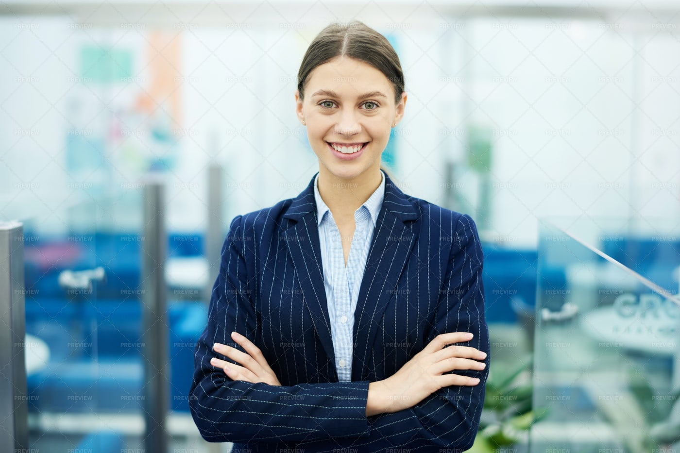 Successful Businesswoman Posing: Stock Photos