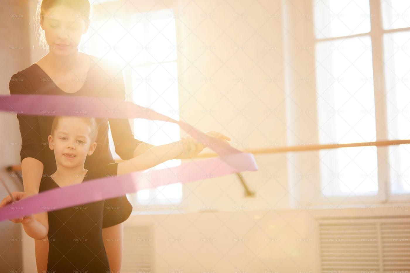 Cute Little Gymnast: Stock Photos
