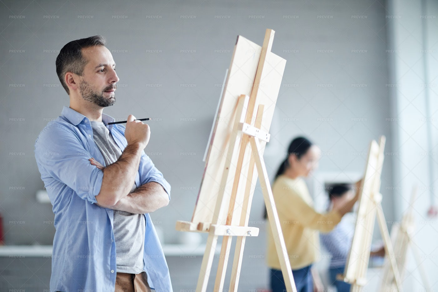 Course Of Painting: Stock Photos