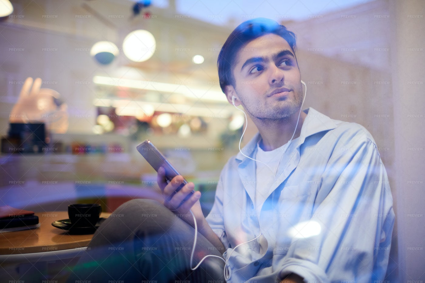 Guy Listening To Music: Stock Photos