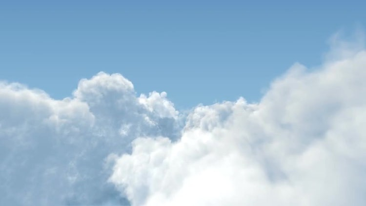 Cumulus Clouds Fly Through : Stock Motion Graphics