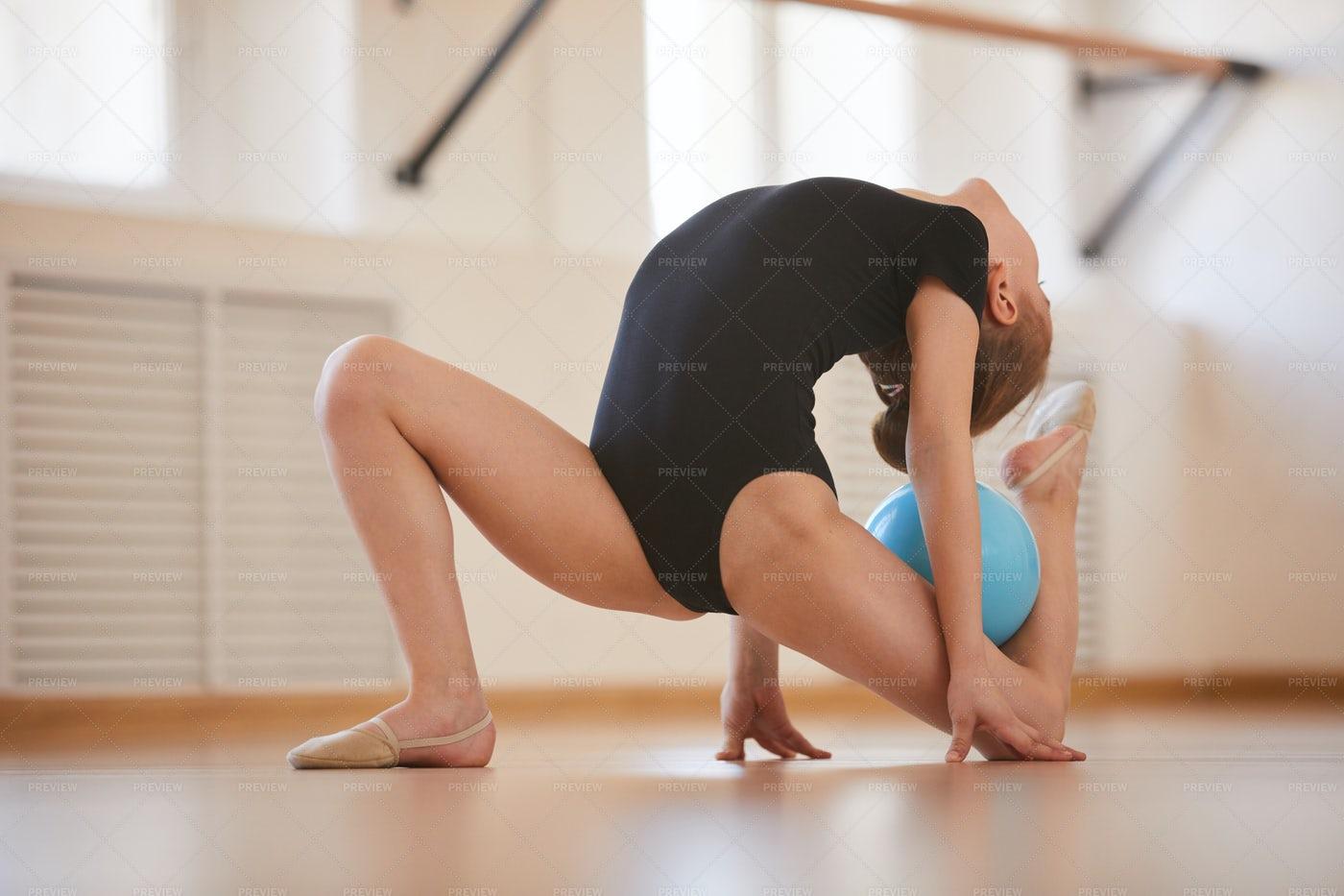 Gymnastics With Ball: Stock Photos