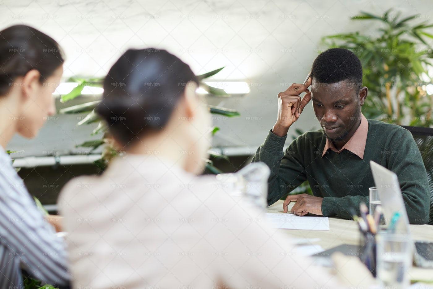 African Businessman Thinking: Stock Photos