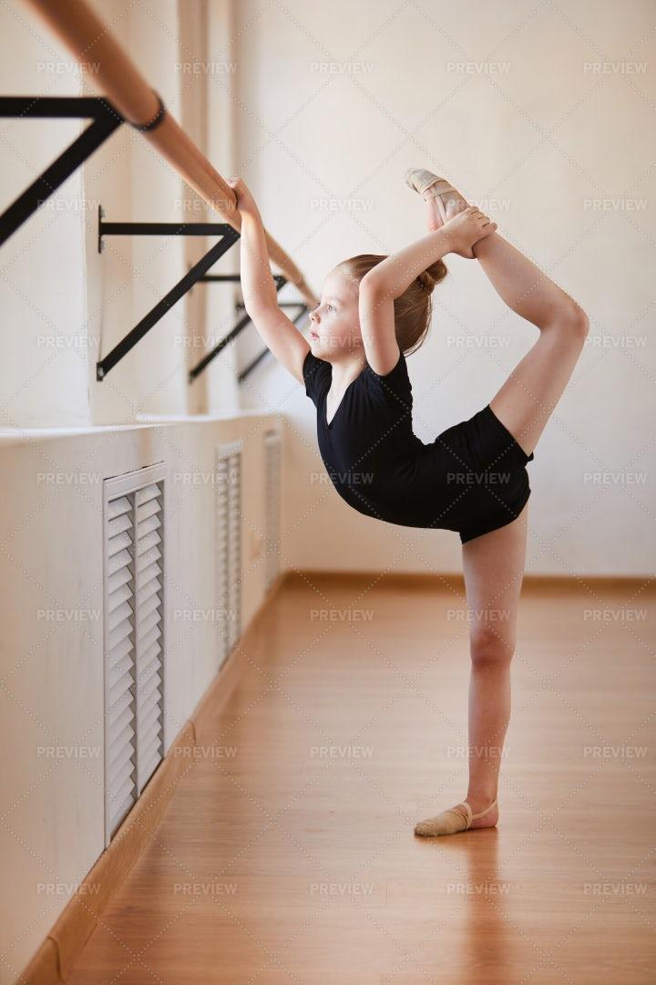Flexible Little Girl: Stock Photos