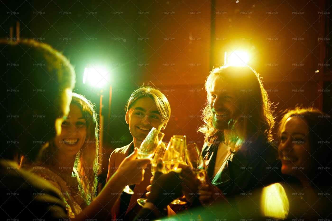 Hilarious Friends Drinking...: Stock Photos