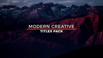 20 Modern Titles: Motion Graphics Templates