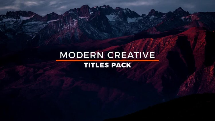 20 Modern Titles: Motion Graphics Templates