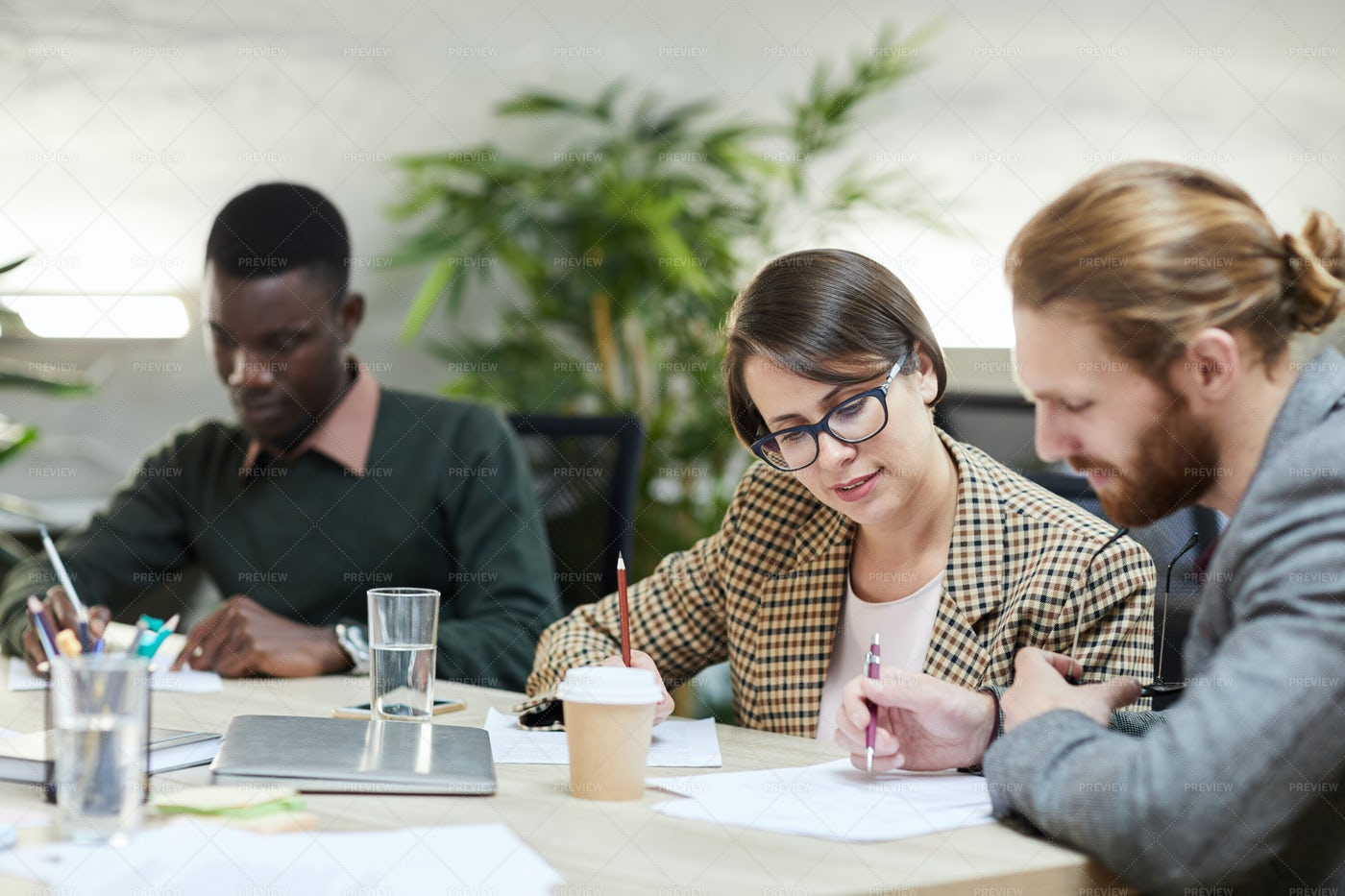 Group Of Business People In Meeting: Stock Photos