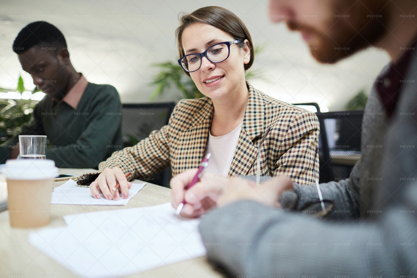 Business Manager In Meeting: Stock Photos