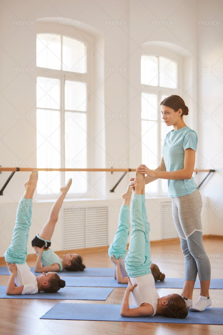 Children Stretching: Stock Photos