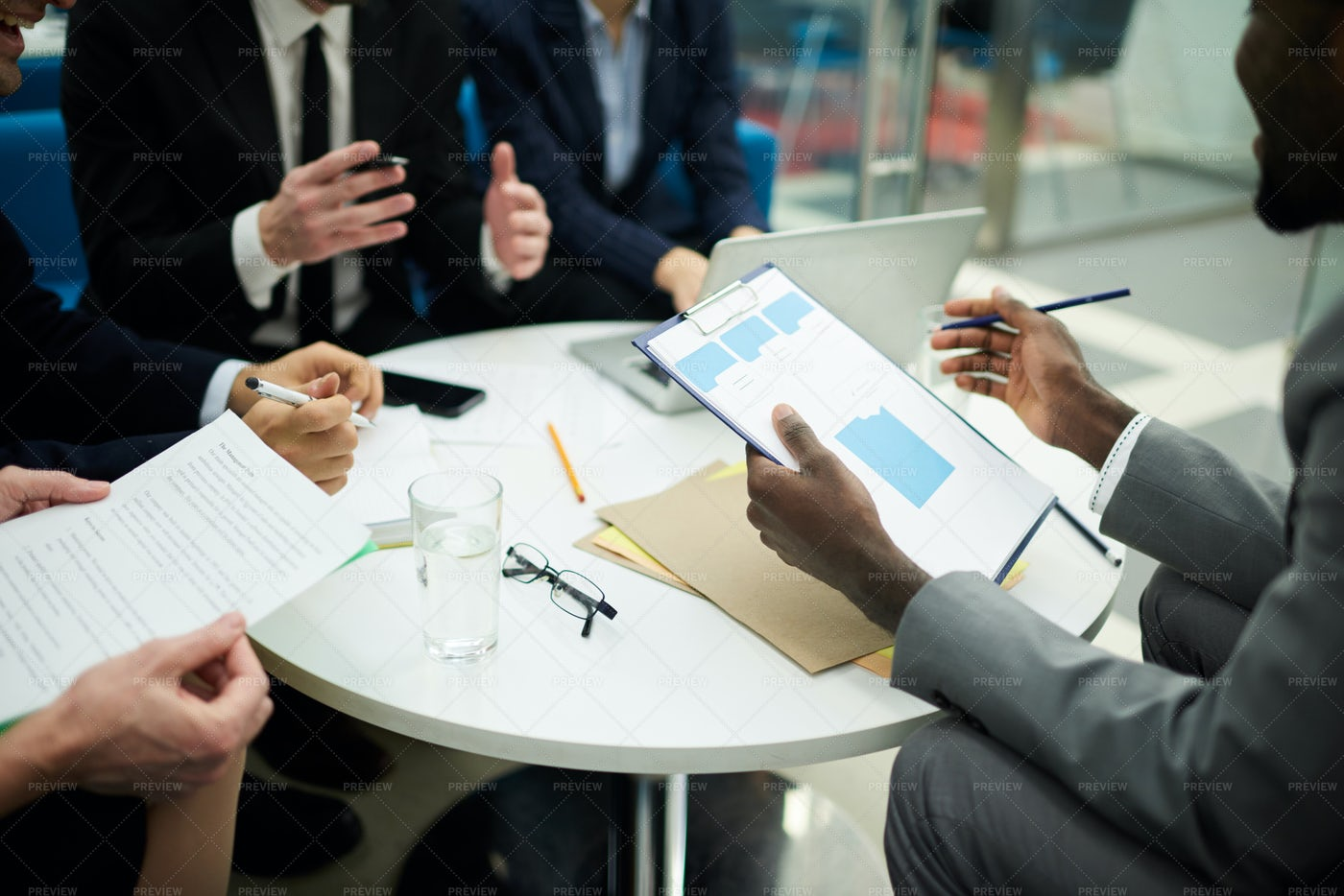 Meeting In Office Background: Stock Photos