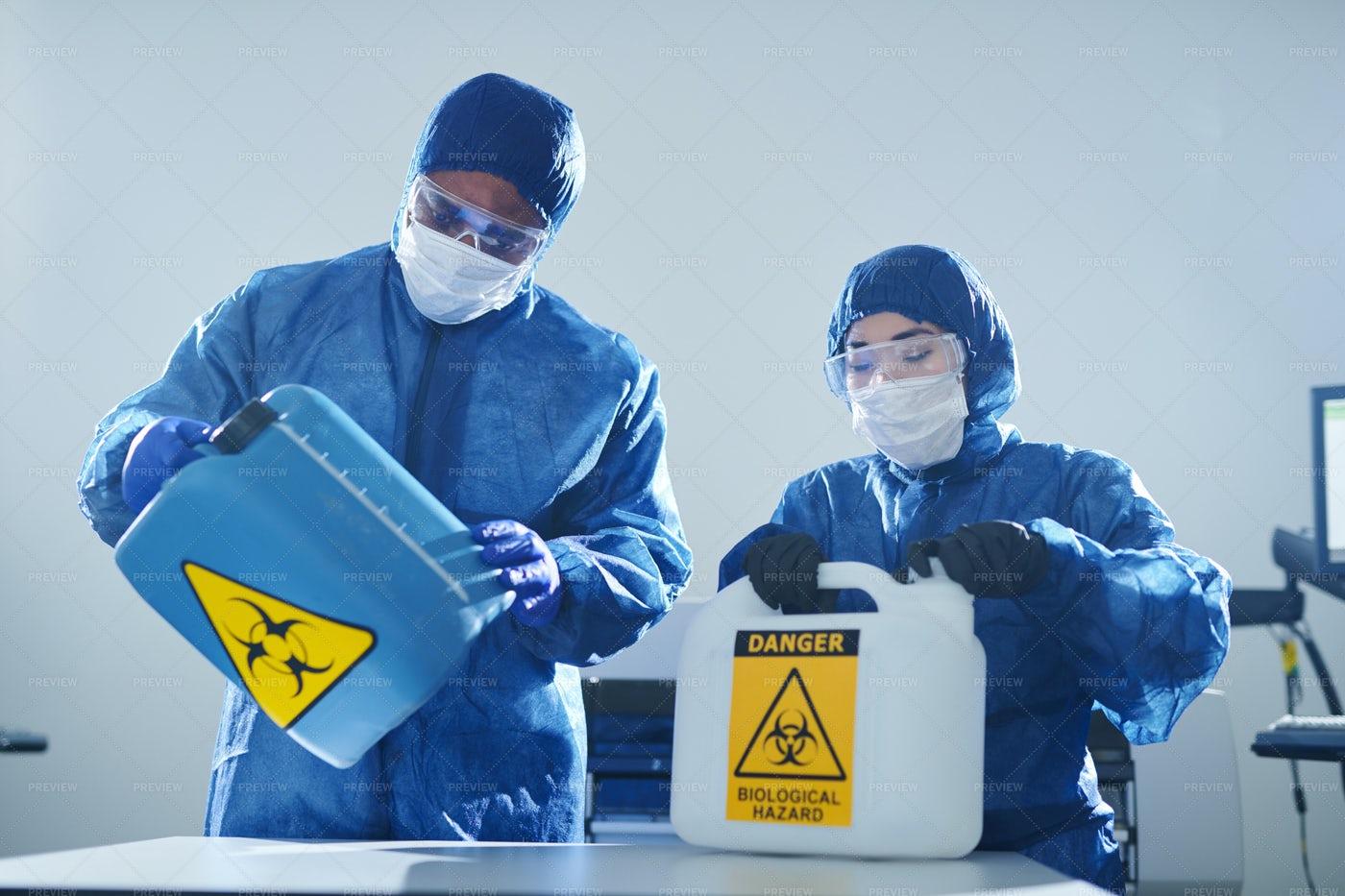 Working With Biohazards: Stock Photos