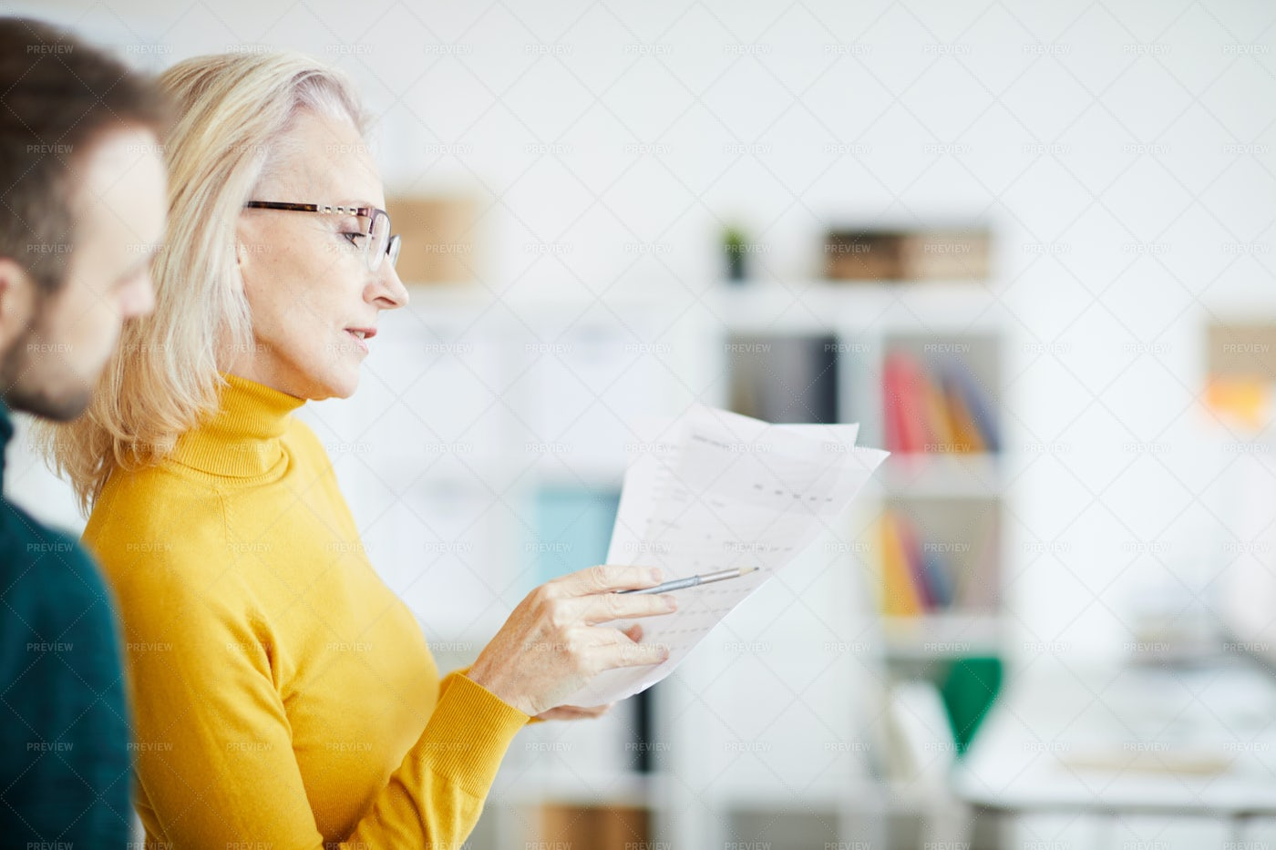 Businesswoman Planning Strategy: Stock Photos