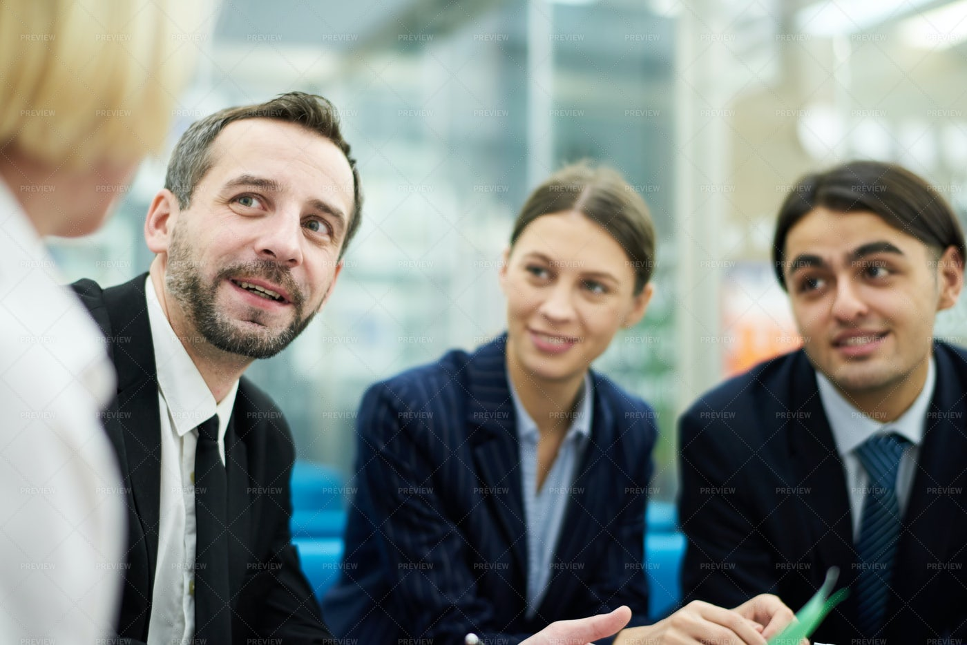 Group Meeting In Office: Stock Photos