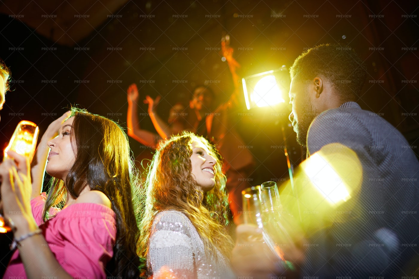Young People Drinking Alcohol At...: Stock Photos