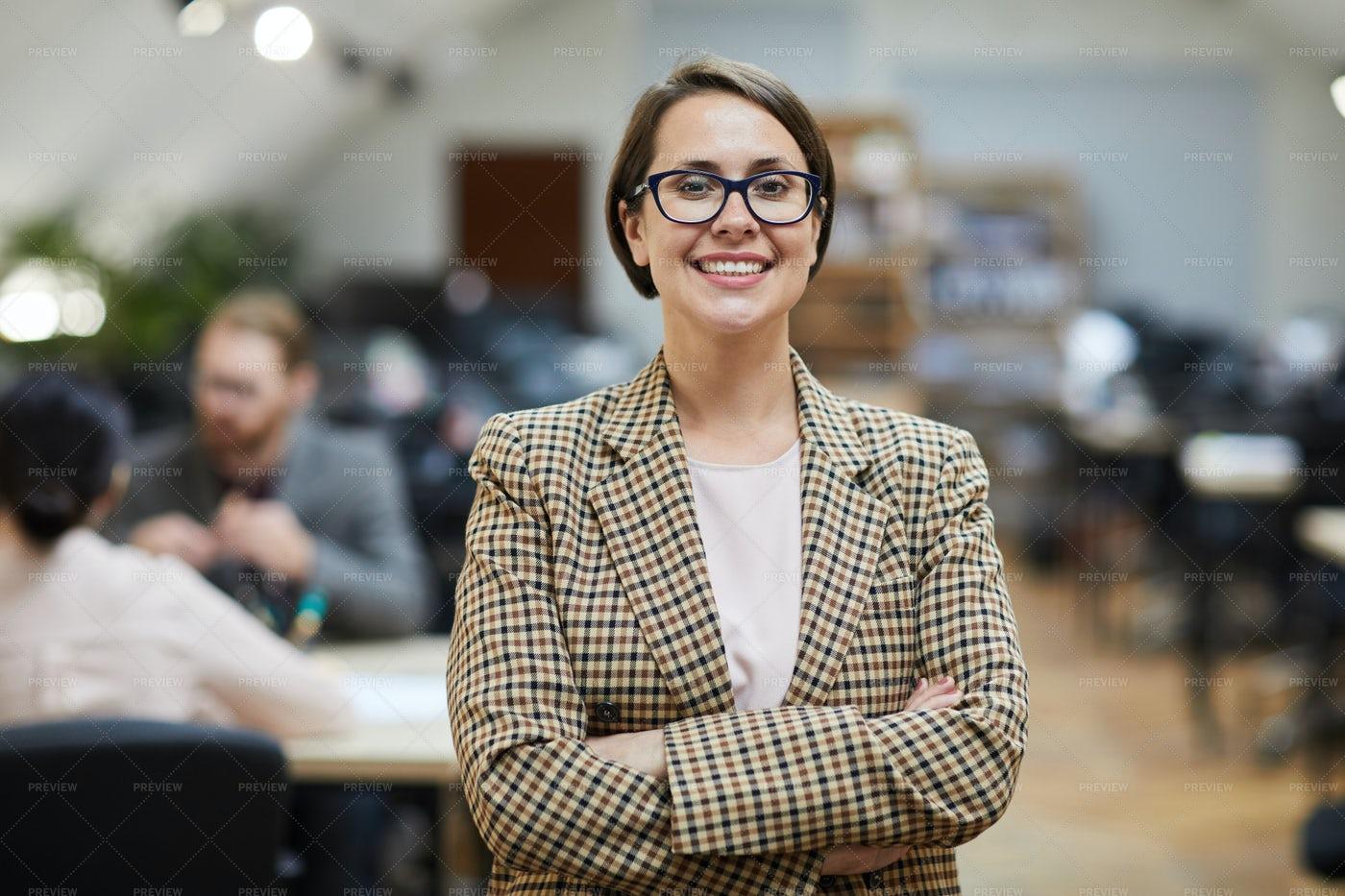 Successful Businesswoman Posing In...: Stock Photos