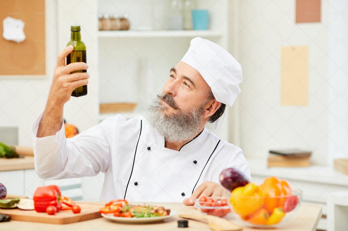 Charismatic Senior Chef: Stock Photos