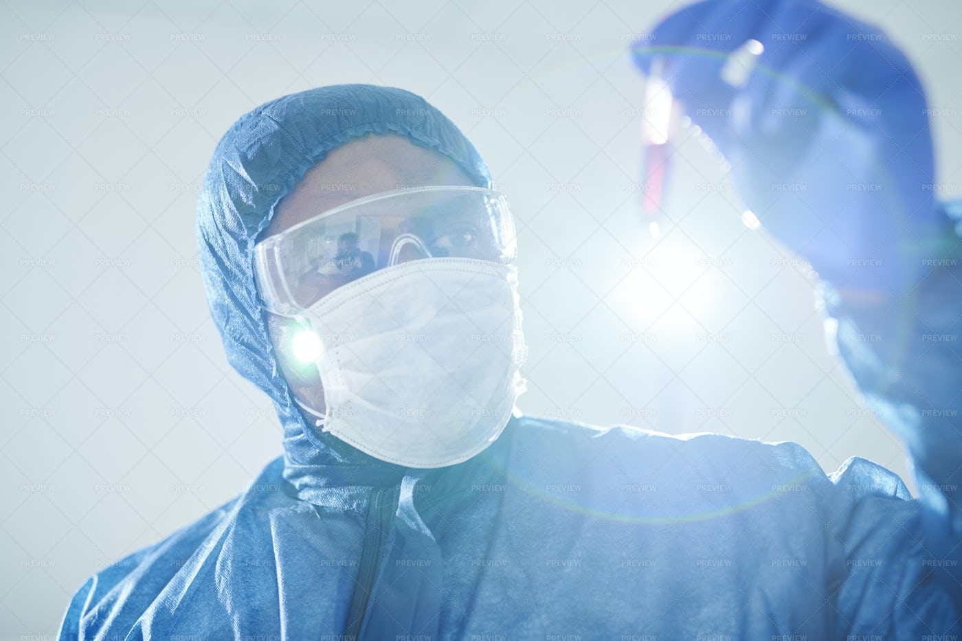 Analyzing Virus-infected Blood...: Stock Photos