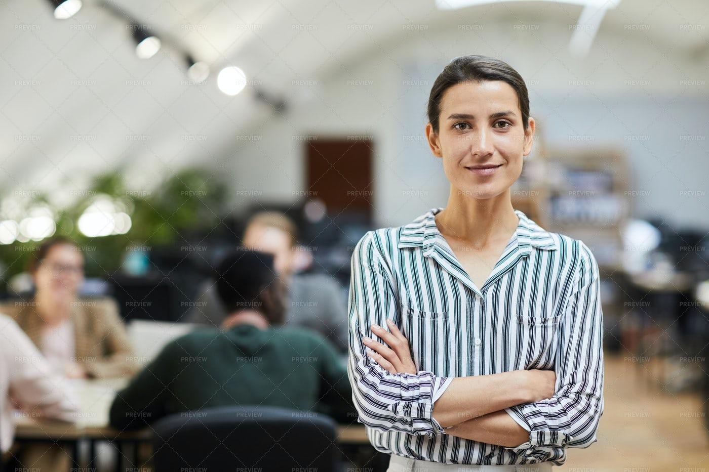 Modern Businesswoman Posing In...: Stock Photos