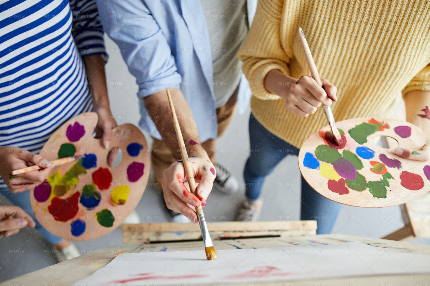 Painting With Colors: Stock Photos