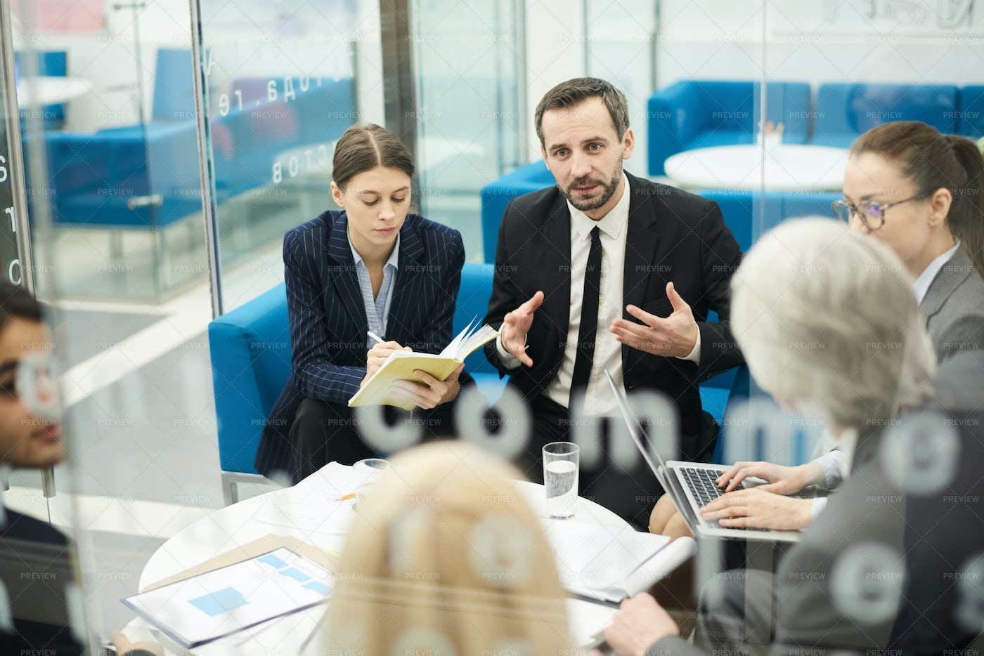 Group Discussion In Meeting: Stock Photos