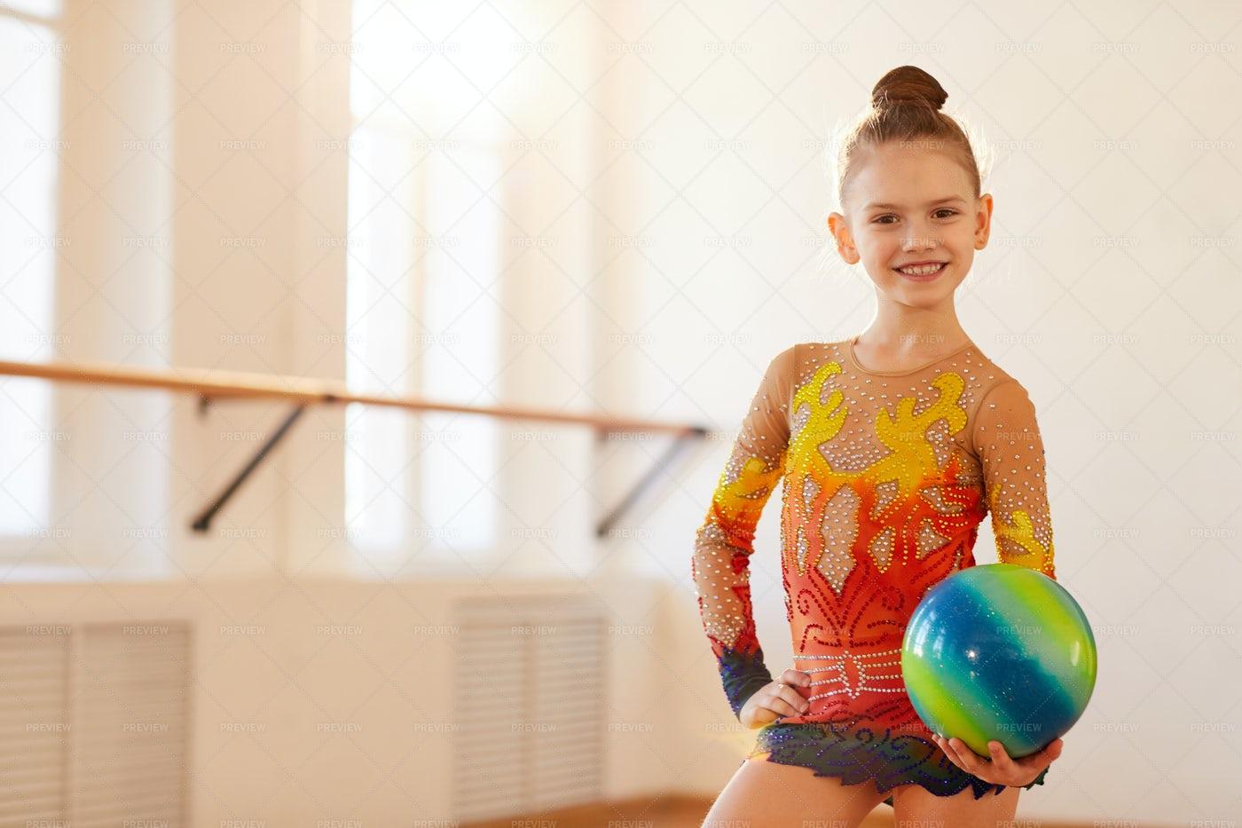 Girl Gymnast Posing: Stock Photos
