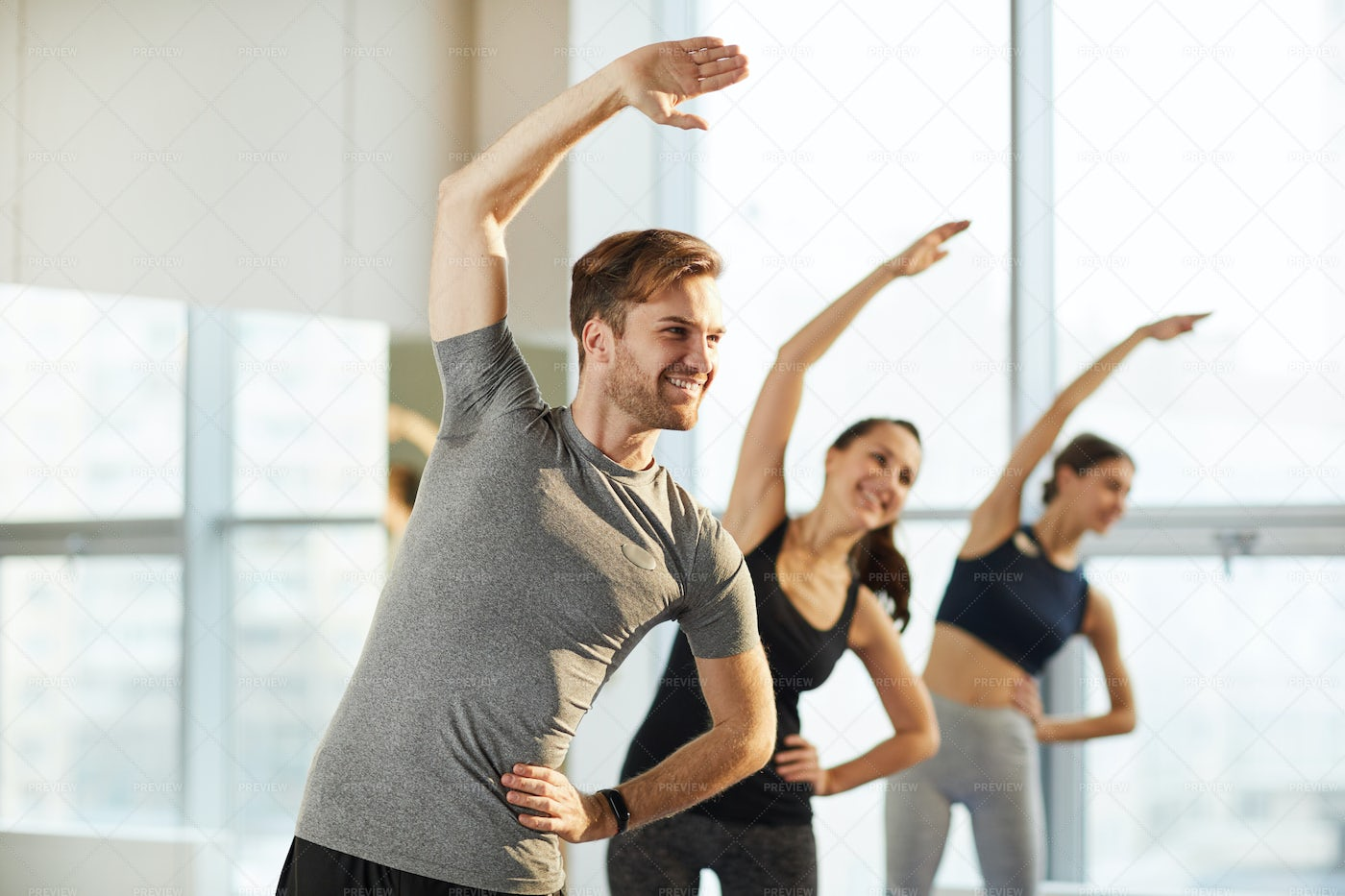 General Yoga Class For Men And...: Stock Photos