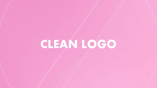 Clean Logo Opener: After Effects Templates