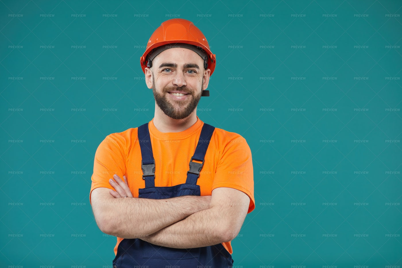 Manual Worker With Arms Crossed: Stock Photos