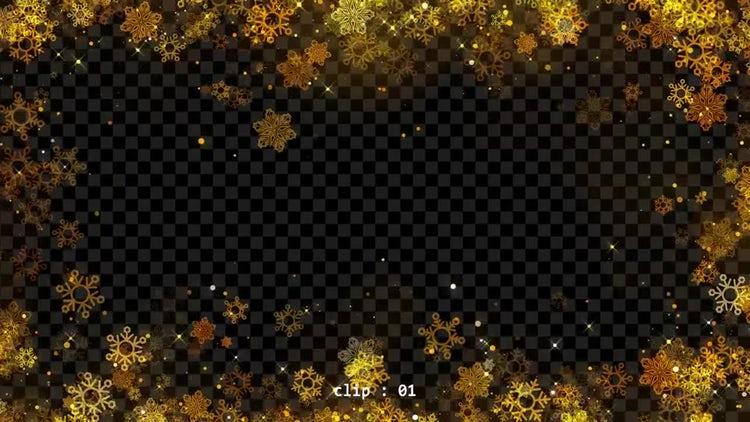 Christmas Snowflakes Frames: Stock Motion Graphics