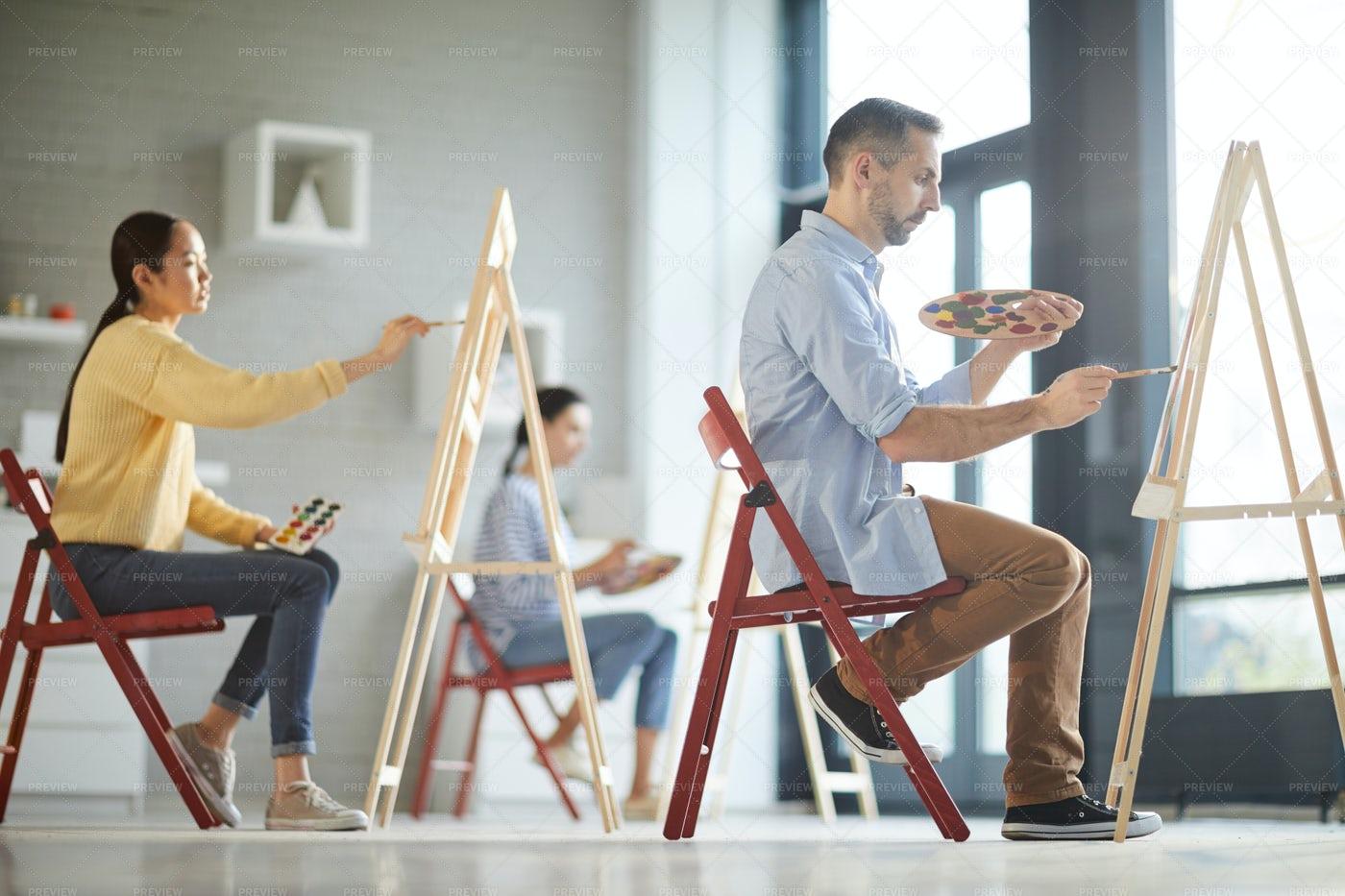Class Of Painting: Stock Photos