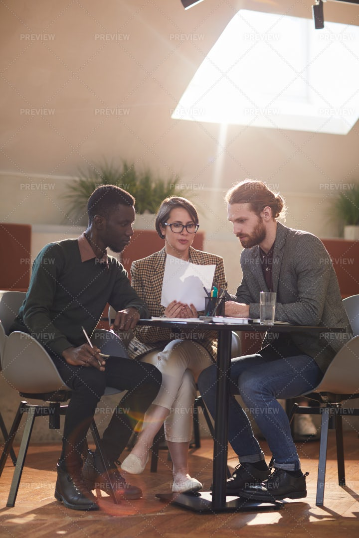 Group Of Business People Meeting In...: Stock Photos