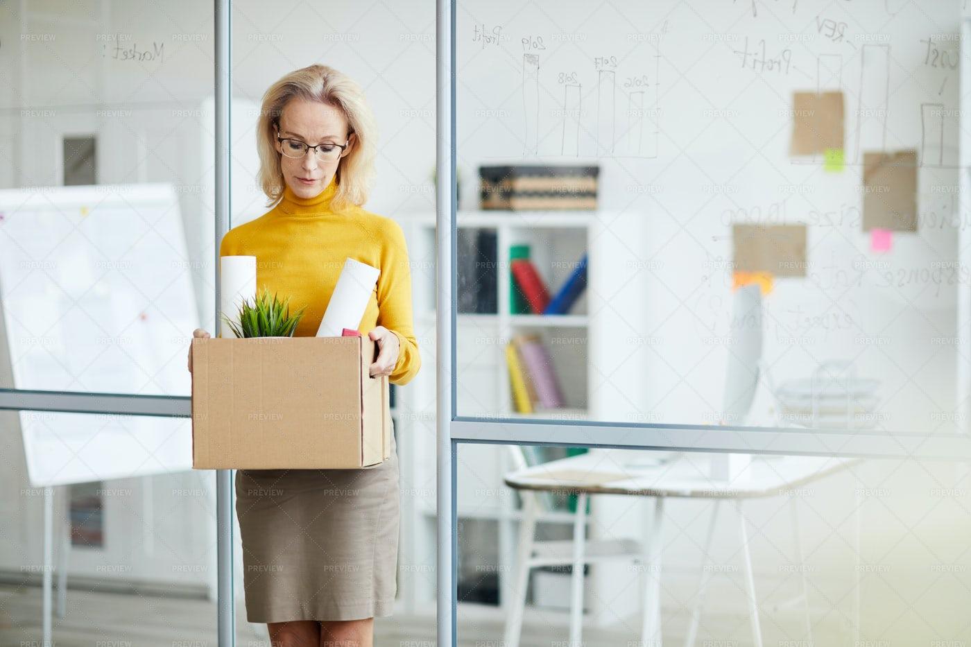 BusinesswomanQuitting Job: Stock Photos