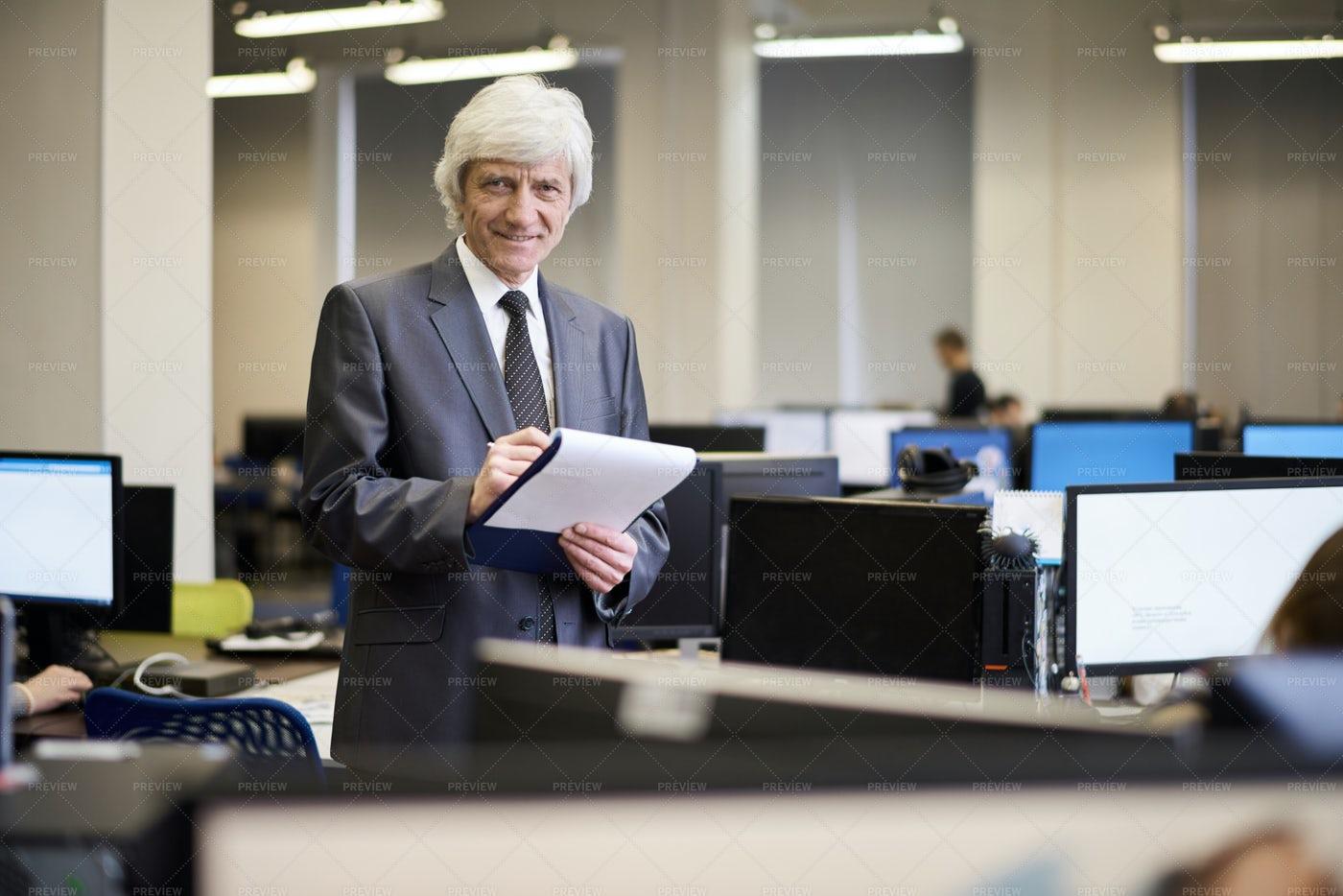 Senior Businessman Posing: Stock Photos