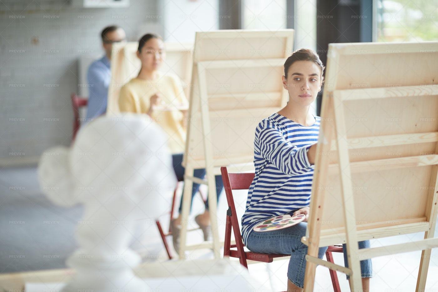 Painting Human Head: Stock Photos