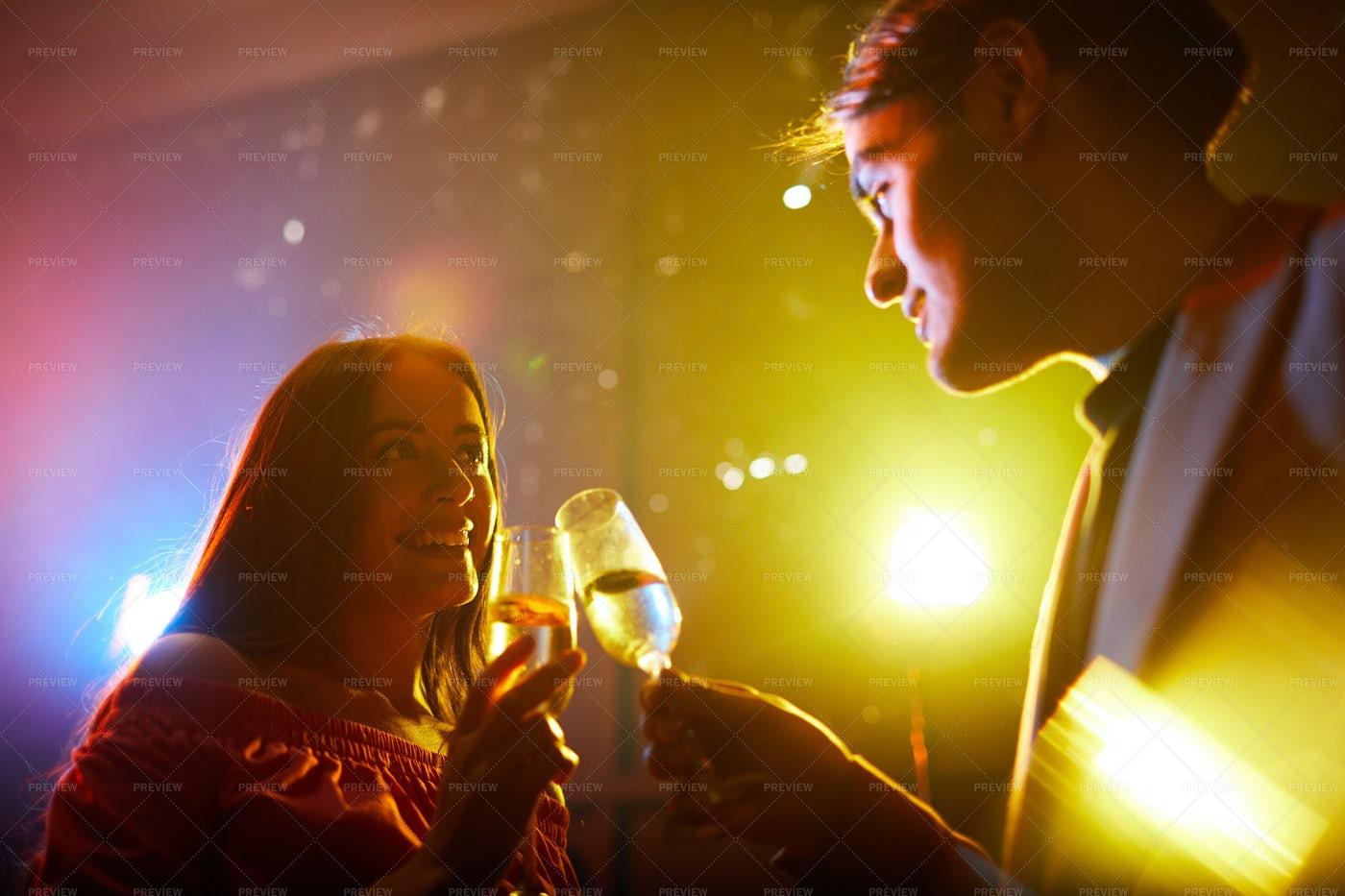 Young Couple Celebrating...: Stock Photos