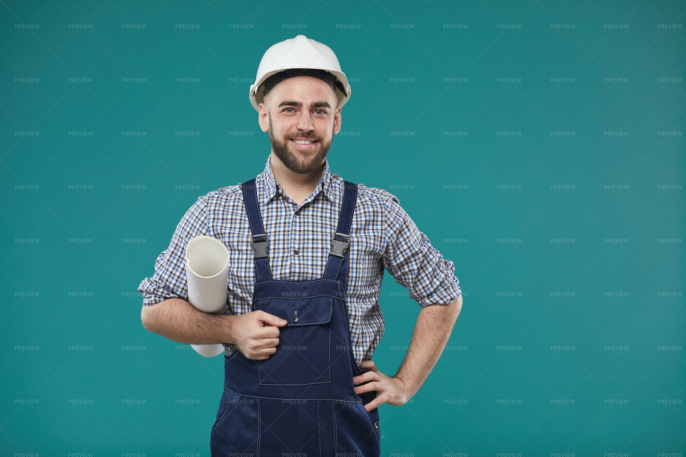 Handsome Male Engineer Portrait: Stock Photos