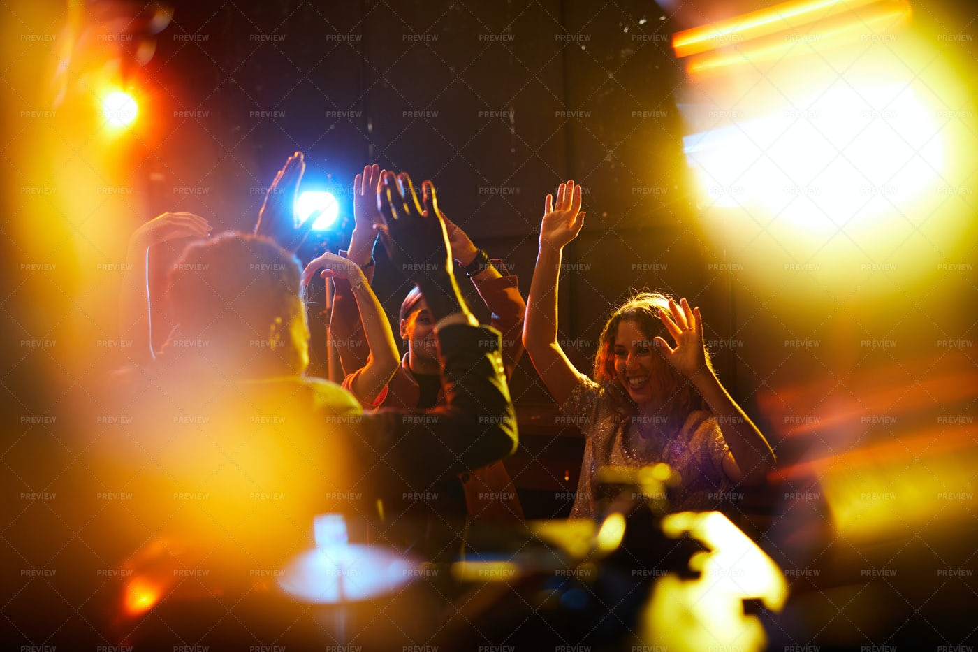 People At Rocking Party: Stock Photos