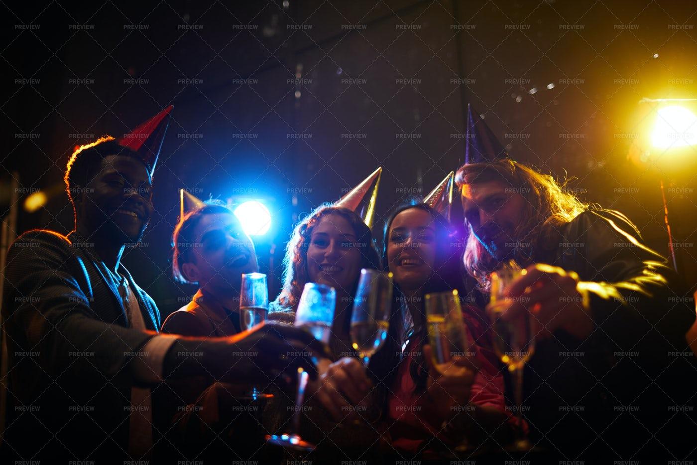 Gathering At Birthday Party: Stock Photos