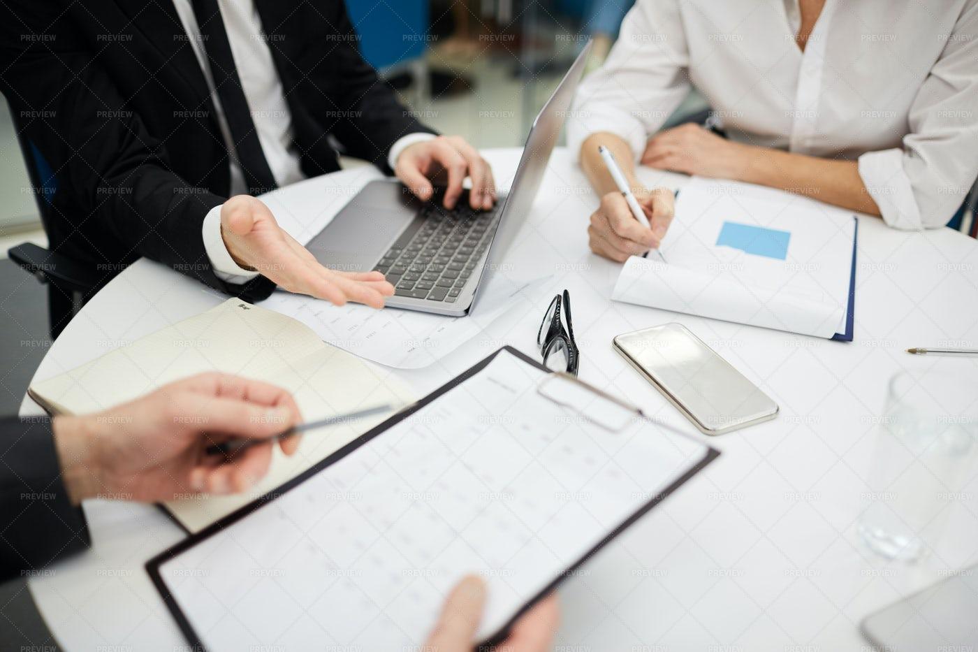 Business Meeting Close Up: Stock Photos