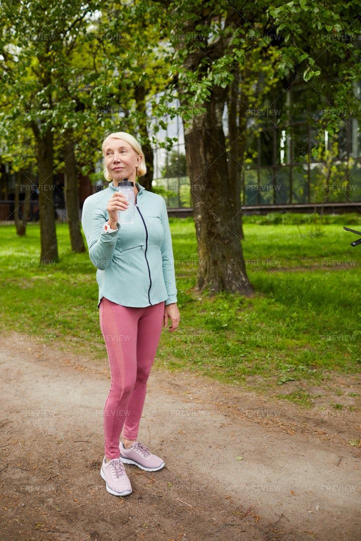 Sportswoman On Path: Stock Photos