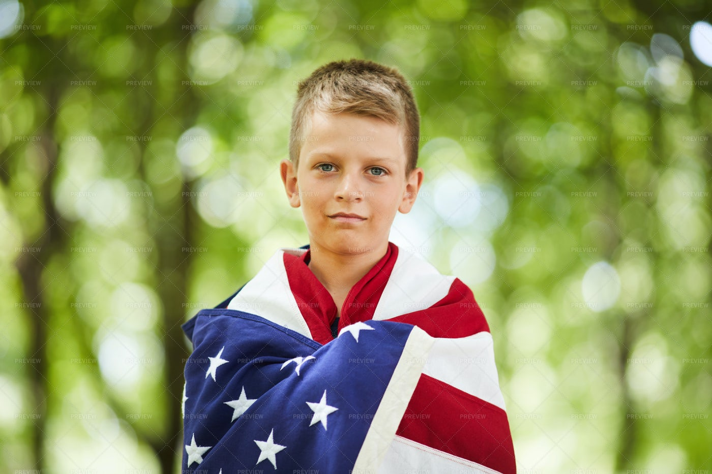 Boy Proud Of His Country: Stock Photos