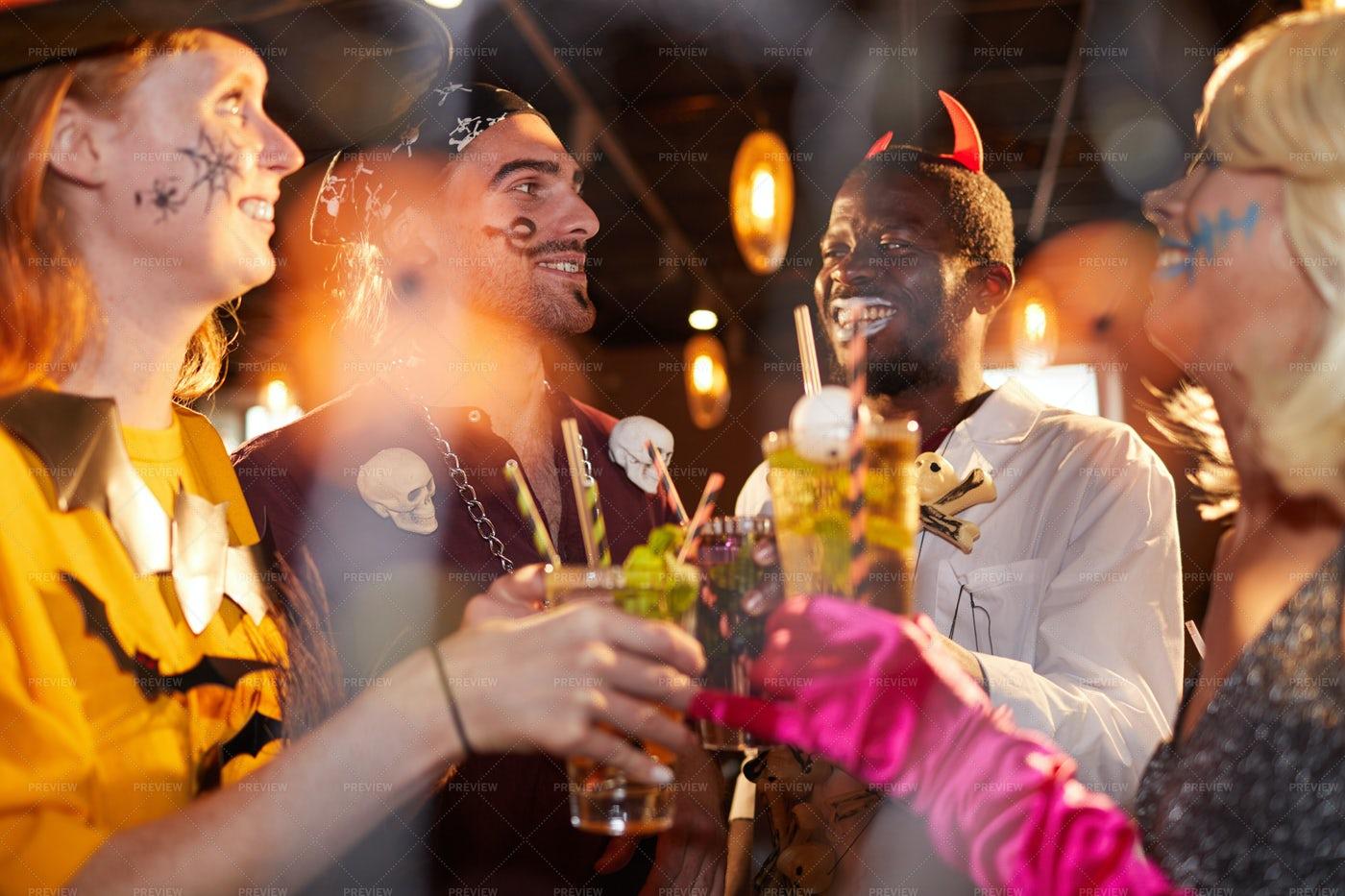 Enjoying Halloween Party In...: Stock Photos